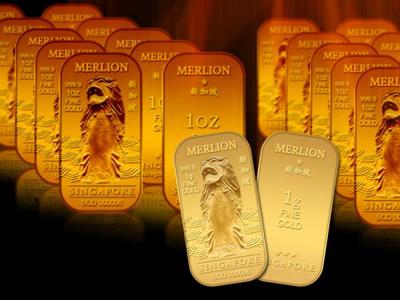 singapore merlion 1g gold bars