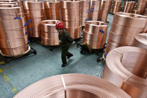 Copper hit near two-month high on upbeat China import data